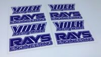 "8 PCS Rays Style Wheel Blue Decal Sticker TE37 OE SIze JDM 16"" 17"" 18"" 19"" Rims"