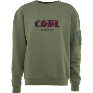 Cayler & Sons Black Label Arise Crewneck New Men's Olive Black CSBL-AW18AP20
