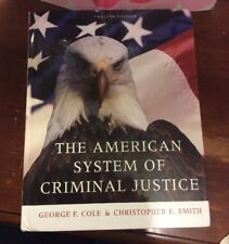 The American System of Criminal Justice (hard Cover),good Condition