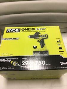 NEW Ryobi PBLHM101K One 18v Brushless Hammer Drill HP Kit with Battery&Bag
