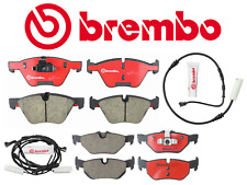 Front Brake Pads & Rear Brake Pads Set Ceramic Brembo + Sensor BMW 128i 10-13