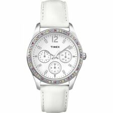 NEW Timex T2P385 Large ladies crystal set dress Watch RRP £79.99