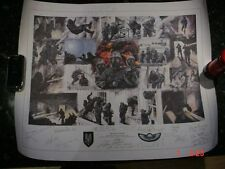 SAS Special air service Signed print by members of the teams