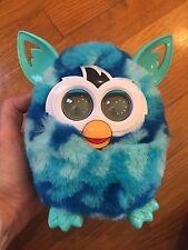 "Nice Hasbro Furby Boom Aqua Blue Waves Interactive Plush Toy 6"" H"