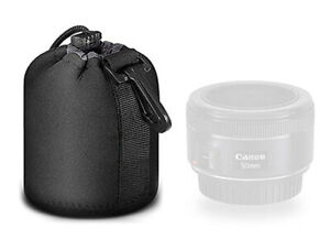 Protective Drawstring Camera Lens Pouch Neoprene Waterproof - Small UK STOCK