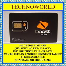Boost $10 Prepaid Credit Sim Card+3G+14Days Expiry+Standard/Micro Size Available