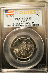 """E.J. Gold - """"2012-S QUARTER First Strike ACADIA"""" for my coinology students!!!"""