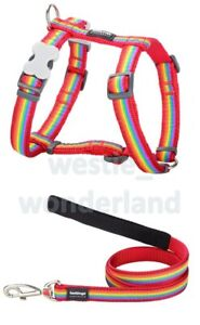 Red Dingo RAINBOW Design Harness RED For Dog / Puppy   XS - LG   Adjustable