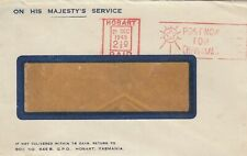 WW2 Australia War Savings Bond logo on OHMS cover 1948 Hobart slogan postmark