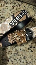 Versace 2020 leather belt gold buckle size 24 - 38