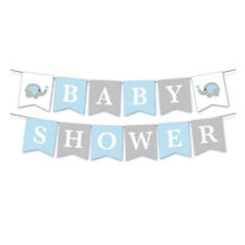 Baby Shower Elephant Printed Banner Bunting Party Celebration Decoration DP