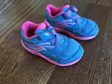 Saucony Girls Toddler Baby Ride 9 Green Casual Trainers Sneakers Shoes Sz 6 GUC