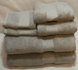 Ralph Lauren Wescott Cape Gray Six Piece Bathroom Towel 100% Cotton Set New
