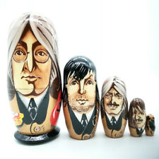 Matryoshka Beatles Lennon McCartney Harrison Ringo Liverpool Hand Painted #24