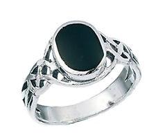 Echtschmuck aus Sterlingsilber mit Onyx-Ringe
