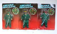 Vintage TMNT Teenage Mutant Ninja Turtles Bootleg Figure set of 3 MOC 1990's