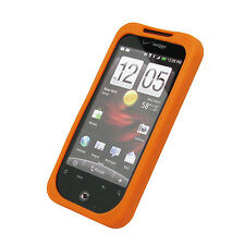 for Htc Droid Incredible Case Skin Orange+Screen Cover