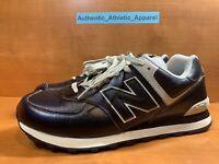 New Balance 574 Black Vintage Leather Casual Shoes Men's Size 11.5 ML574LPK