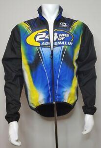 Louis Garneau Cycling Jacket Men M Medium 24 Hrs of Adrenaline Black Blue