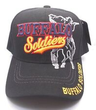 Buffula Soldiers Ball Cap Hat in Black New NWT