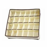 24 Cells Foldable Closet Drawer Organizer Box For Bra Underwear Tie Sock Cel8F7