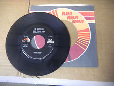 HANK SNOW tears in the trade winds/queen of  draw poker town   RCA  45