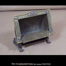 Antique Mitchell Vance Cosmos Radiant Fire Advertising Brass MATCH SAFE / HOLDER