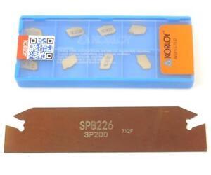 SP200 Carbide Inserts+SPB26-2mm Grooving Slotting tool Cutter Plate SPB226