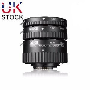 Meike MK-N-AF-B Auto Focus AF Macro Extension Tube Set for Nikon DSLR Camera UK