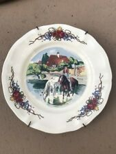 Old French Obernai faienceries Sarreguemines plate 8.25 inches Alsatian decor & French Country Ceramic Decorative Plates | eBay