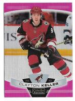 2019-20 Clayton Keller O-Pee-Chee OPC Platinum Matte Pink - Arizona Coyotes