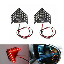 2x Car Modified Rear View Mirror Red LED Turn Signal Indicator Light Waterproof