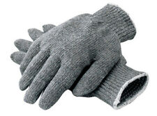 12 PAIR 1 DOZEN GRAY STRING KNIT POLY COTTON WORK GLOVES PAIRS GREY LARGE L