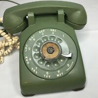 Vintage Rotary Phone Hunter Green Western Electric Desk 500 CD 1962 Bell System