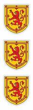 Scotland Stickers 3x Coat of Arms UK Locker Tool Box Car Truck Fridge Door Room
