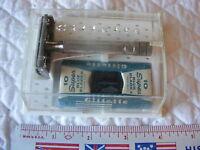 Vintage Gillette Safety Razor Kit In Box With Blades