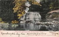 Falls Below Heyenga Lake, Spring Valley, N.Y., Hand Colored 1908 Postcard, Used