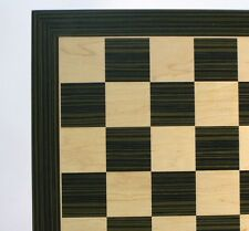 "CHESSBOARD - 22"" - 2.4"" SQ's - EBONY & MAPLE INLAID WOOD - CLASSIC (ww 60560ebc)"