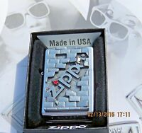 """ZIPPO - """" THE WALL"""" - 3D Colored Emblem  LIGHTER RARE Collectible .. New in Box"""