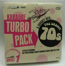 Zoom Karaoke 70s Seventies Turbo Pack - 203 karaoke tracks on 10 CD+G discs
