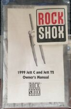 Rock Shox 1999 Jett C and Jett T2 Owner's Manual with Fork Decal NEW