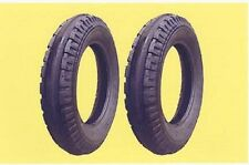 """Two 4.00-12 Allis Chalmers """"G """" Original Firestone Front Tractor Tires & Tubes"""