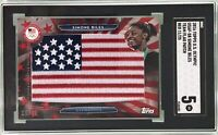 Simone Biles 2016 Topps US Olympic Rookie Red Team Flag Patch /25