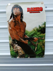 Rambo First Blood Part II 1985 Vintage Movie Poster