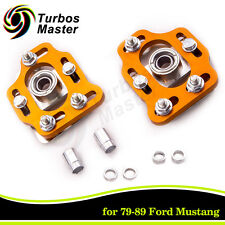 For 79-89 Ford Mustang Front Coilovers Camber Caster Plates Kit ±2.50 Adjustable