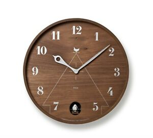 Lemnos PACE Brown LC11-09BR Wall Cuckoo Clock Fast F/S Japan