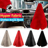 Universal Hyper Fabric Gear Shift Knob Shifter Boot Cover PU Leather Flannel