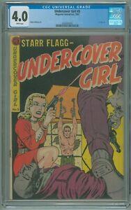 Undercover Girl # 5 CGC 4.0 VG Magazine Enterprises 1952 Ogden Whitney Art