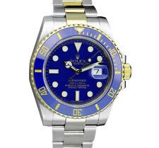 ROLEX - 18kt Gold Stainless Submariner Blue Ceramic Smurf 116613 LB - SANT BLANC