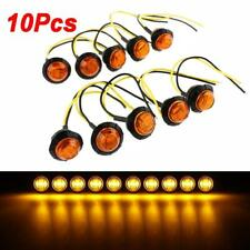 "10X12V 3/4"" Mini LED Round Side Marker Light Amber Truck Trailer Car Bullet Lamp"